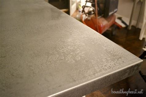 diy zinc top kitchen table beneath