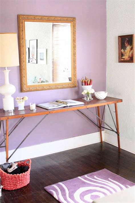 purple accent wall contemporary entrance foyer ralph lauren medieval purple design sponge