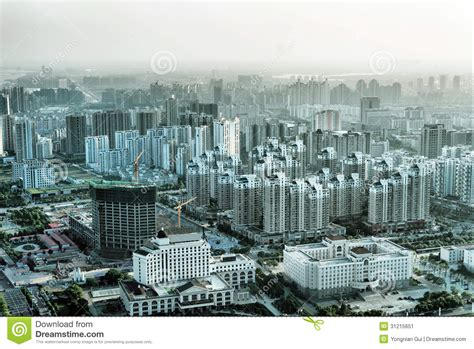 view larger aerial view of the big city stock image image 31215651