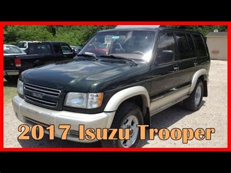 isuzu jeep 2017 isuzu trooper