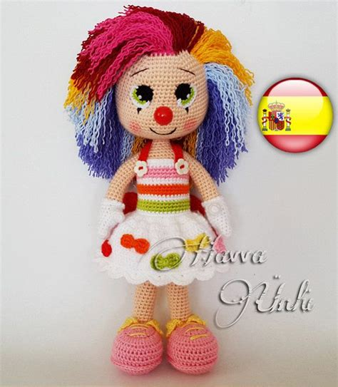 ravelry cuddly baby amigurumi doll pattern by mari liis patr 243 n espa 241 ol nina payaso por havvadesigns en etsy