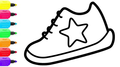 coloring shoes children s shoes coloring with glitters learning colours