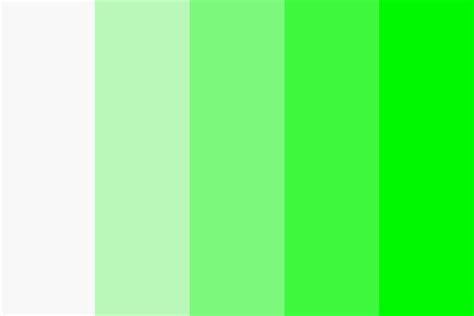 White to Green Color Palette