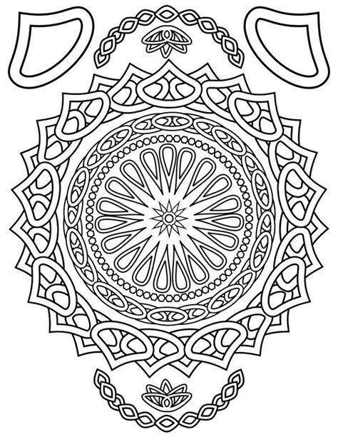 coloriage adulte orient mandala orient 1