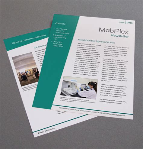 quarterly newsletter template mabplex usa quarterly newsletter template on the