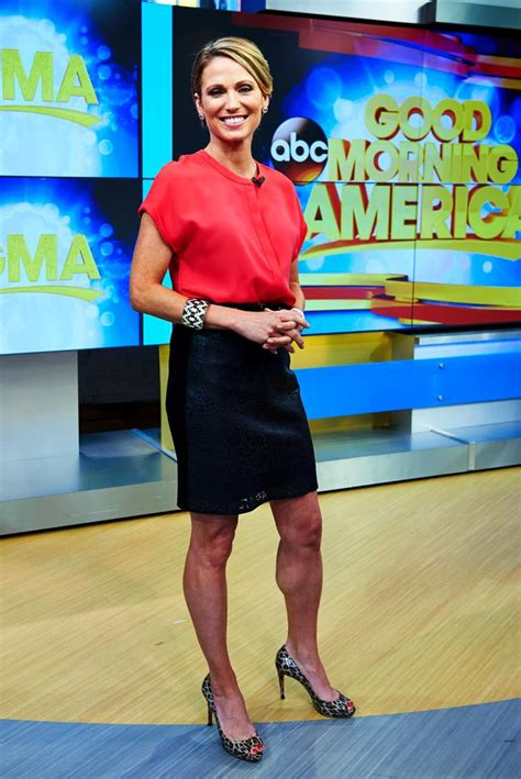 on gma shows ginger zee amy robach legs high heels amy robach of good morning america details breast cancer