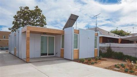 affordable zero energy homes affordable net zero prefabs erected in south l a in only