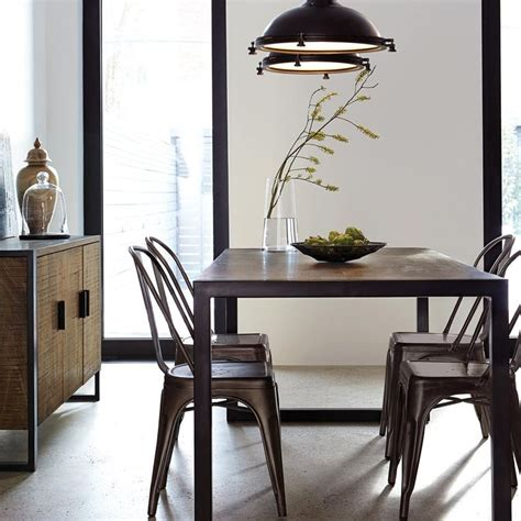 dining room cool atelier industrial metal dining chair 13 best salon images on pinterest dining room dining