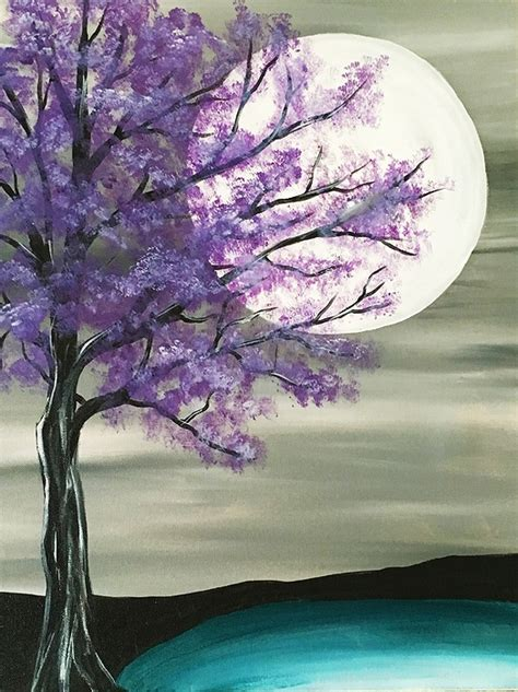 paint nite the tree paint nite majestic purple tree