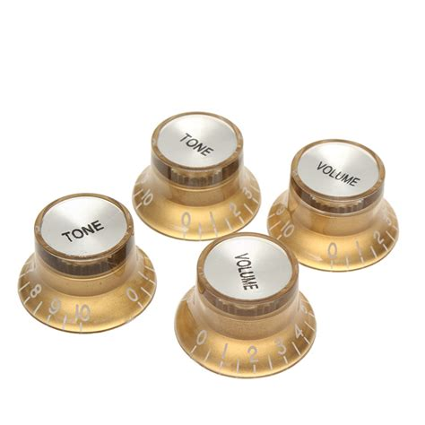 Gold Guitar Knobs by 2 Volume 2 Tone Gold Guitar Knob For Lp Sg Style Electric