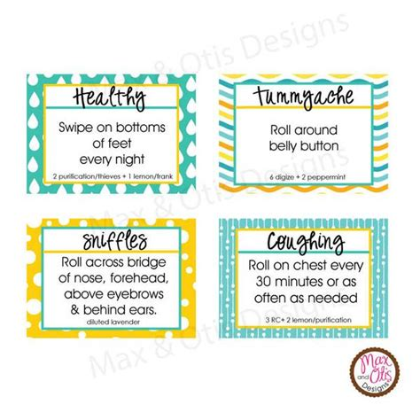 printable labels for essential oils printable 1 quot stickers labels 5 ml essential oil roller