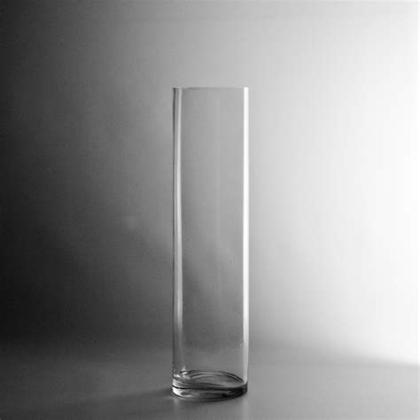 Glass Floral Containers 16 Quot X 4 Quot Glass Cylinder Vase Clear Glass Flower Vase