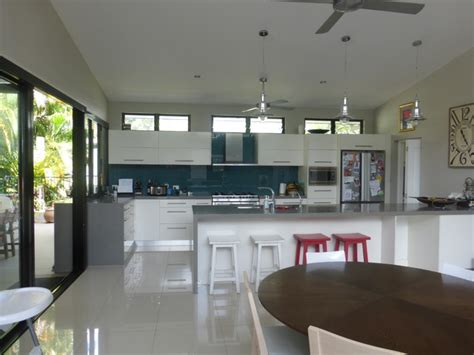 Houzz Kitchen Lighting Ideas skillion roof extension contemporary kitchen cairns