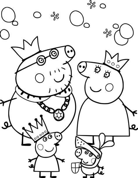 Coloriage Famille Peppa Pig à imprimer sur COLORIAGES .info