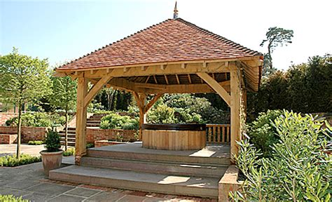 Backyard Pavilion Plans Ideas Square Oak Gazebo For Use As Tub Shelter