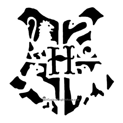 a typical english home harry potter hogwarts pumpkin stencil