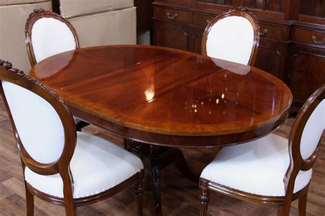 mahogany dining room table round mahogany pedestal dining table 44 quot reproduction