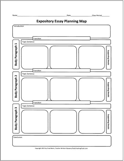 printable graphic organizer for expository writing 42 best graphic organizers for writing images on pinterest