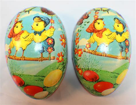 Large Paper Mach 233 Easter - vintage large paper mache easter egg container west