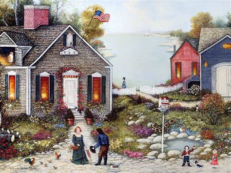 villages in america charming village houses americana folk art pictures 1600