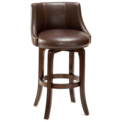 napa bar stool napa valley 30 quot swivel bar stool cherry brown leather