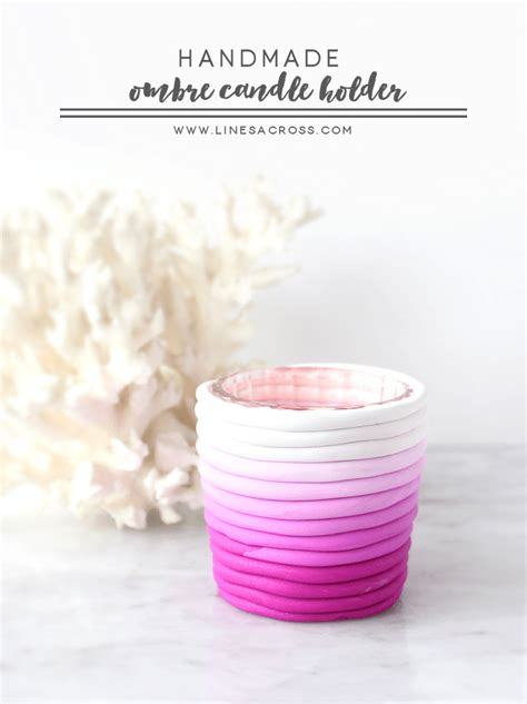 Handmade Candle Holder Ideas - handmade ombre candle holder candle