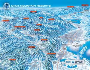 Utah Ski Resorts Map by Gallery For Gt Canyons Ski Resort Map