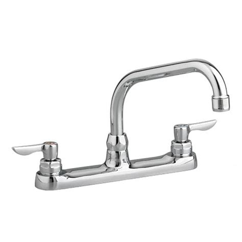 gooseneck kitchen faucets american standard monterrey 2 handle standard kitchen faucet with 8 in reach gooseneck spout in