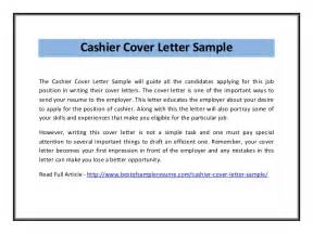 cover letter for cashier cashier cover letter sle pdf