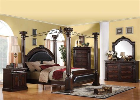 roman bedroom furniture roman empire regenerated leather canopy bedroom set
