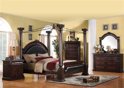 roman bedroom furniture roman empire regenerated leather canopy bedroom set