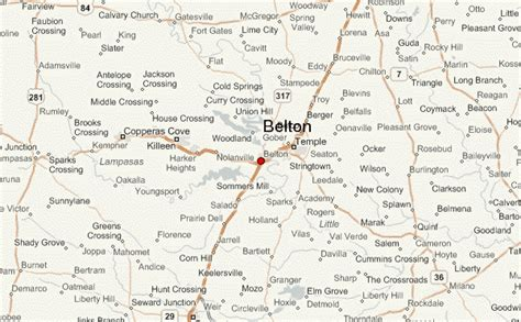 map of killeen texas and surrounding cities belton texas location guide
