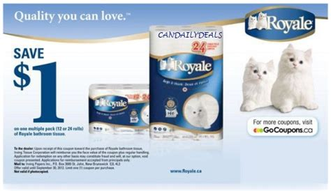 royale bathroom tissue coupon canadian daily deals canadian coupons 1 off royale