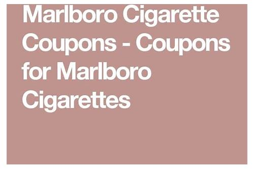 cigarette coupons by mail marlboro