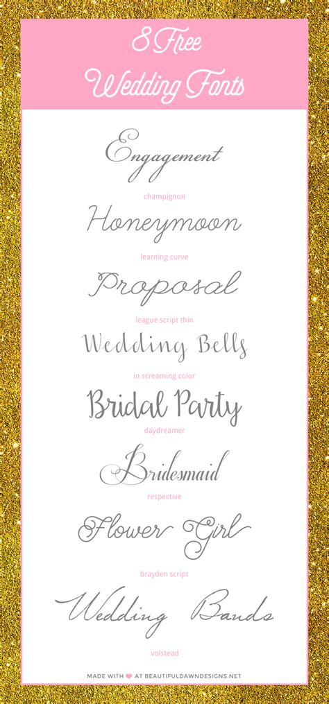 beautiful fonts for wedding invitations free wedding fonts beautiful designs