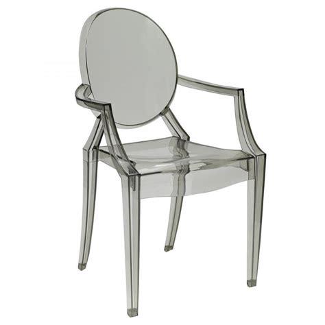 kartell chair the kartell louis ghost armchair smoke black dining