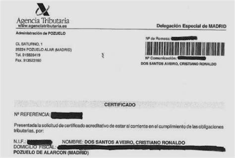 certificado de el pago de impuesto 2016 jorge mendes defiende la inocencia de cristiano con un