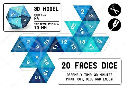 Papercraft Dice - 20 sided papercraft dice stock vector 169 robolab 21442117