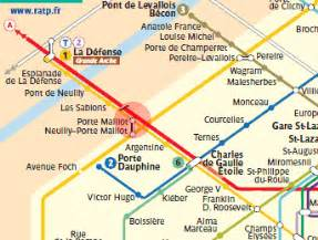 porte maillot station map metro