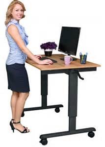 steh schreibtisch 48 quot crank adjustable height standing desk stand up desk