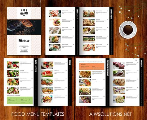 menu with pictures template restaurant menu template brochure templates creative