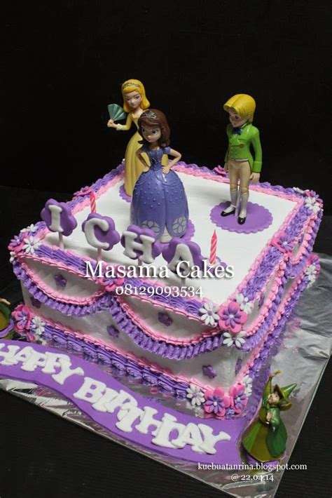 Masama Cakes Sofia The First  Ee  Birthday Ee   Cake For Icha