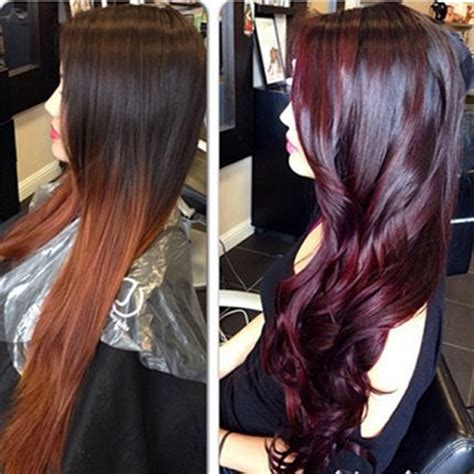 burgandypurple 2015 hair burgundy hair color with highlights in 2016 amazing photo