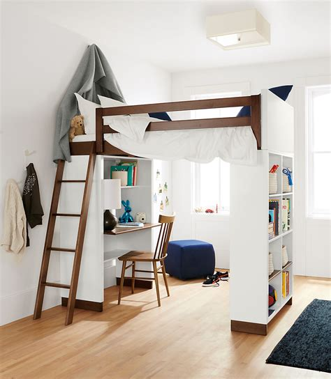 kids bunk bed with desk moda modern wood kids loft moda loft beds with desk and