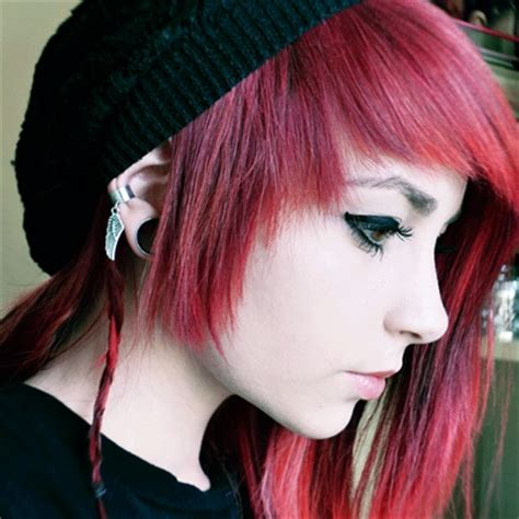 emo hairstyles for redheads scene girl with red hair the beautiful scenes