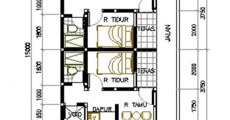layout rumah petakan desain rumah petakan di lahan 6x15 m2 rumah kontrakan