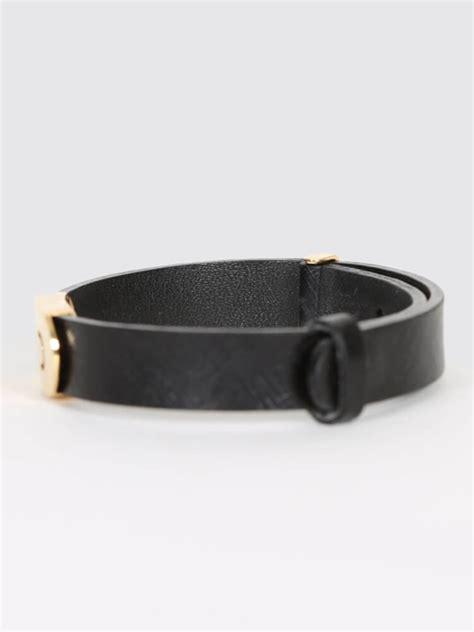 Bvlgari B Zero1 Leather bulgari parentesi 18kt gold black leather bracelet