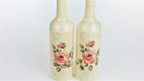 tutorial decoupage botol decoupage bottles fast easy tutorial diy youtube