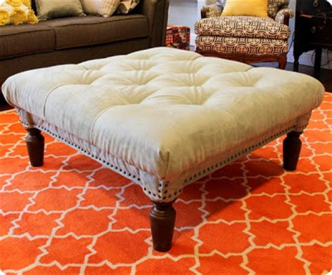 coffee table turned ottoman coffee table turned tufted ottoman