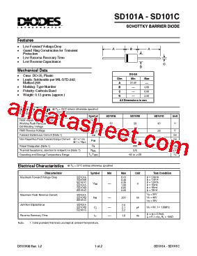 pdf diode sd101 datasheet pdf diodes incorporated
